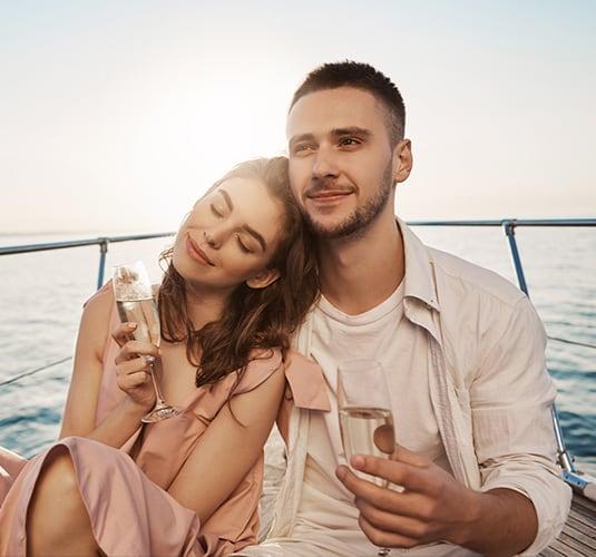 paseo romántico en barco